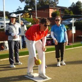A team lawn bowling with everyone wearing IceRays Sun Sleeves for Maximum UV sun protection. Lawn Bowls